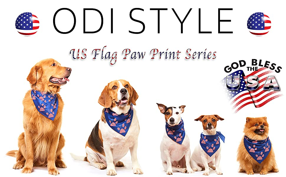 american flag dog bandana 4th of july red white and blue usa bandanas for large medium small dogs