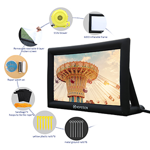 Outdoor Inflatable Movie Projection Screen