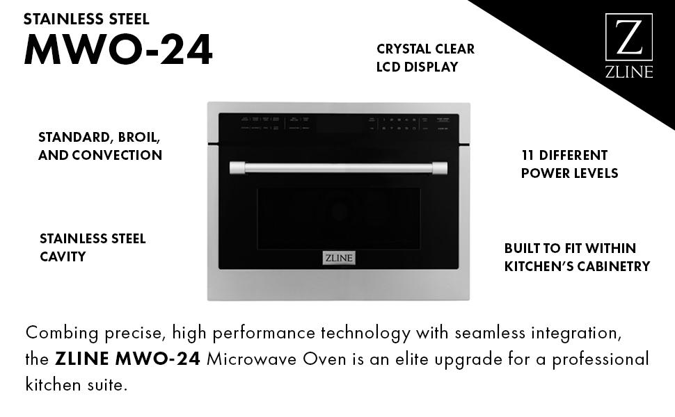 Stainless Steel Built-in Microwave