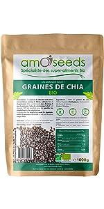 amOseeds Le Spécialiste des Super-Aliments Bio Graines de Chia Bio