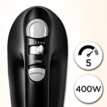 1, 2, 3, 4, 5, five, speed, 400w, watts, 400, turbo, function, adjustable, variable, button, control