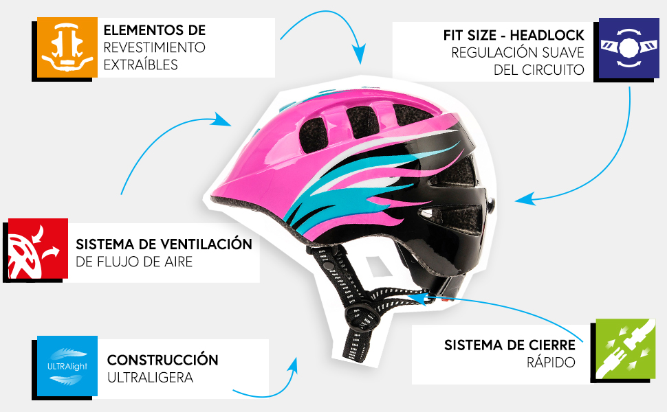 Casco Bicicleta Casco Biciclea Casco Bici Casco de Bicicleta para ...