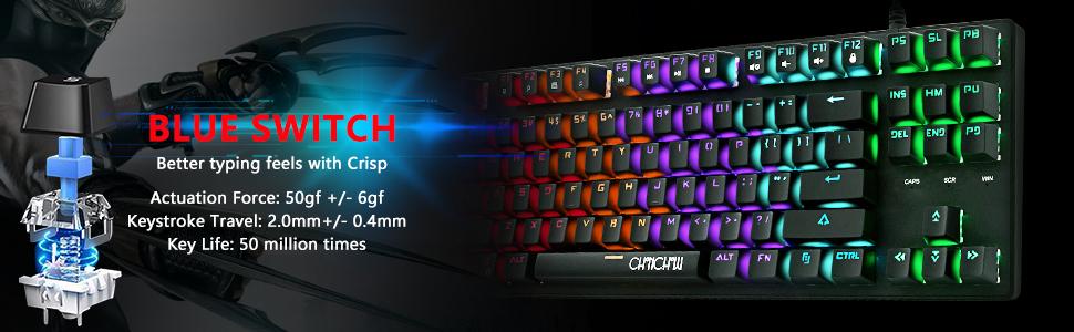 Mechanical Keyboard Blue Switch