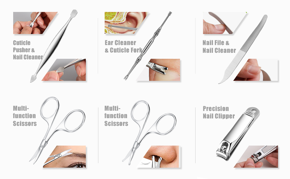 nail clippers cuticle remover tools metal nail file cuticle scissors eyebrow mustache beard scissors