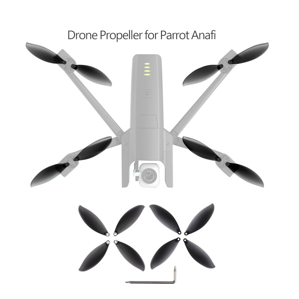 Dilwe Hélices de Drone, 8pcs Lames Parrot Anafi Hélices CCW / CW Accessoire pour Drone