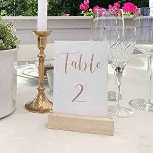 acrylic table number sign table signage wedding table setting decorations wood stand holder
