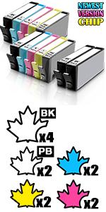 564 xl hp 564 xl compatible hp 564xl ink Photosmart 5510 5512 5515 5520 Deskjet 3070A 3520 3521 3522