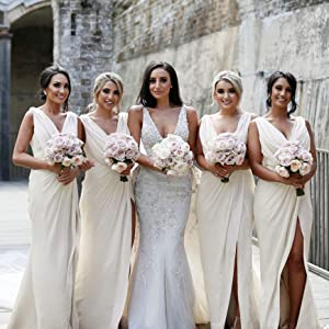 Ivory Bridesmaid Dresses for Wedding Party Guests