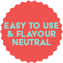 Easy to use, Natural flavour