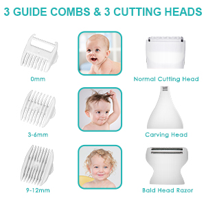 3 Guide Combs & 3 Cutting Heads