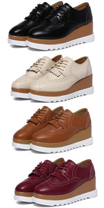 Women's Platform Wedge Oxford Shoes