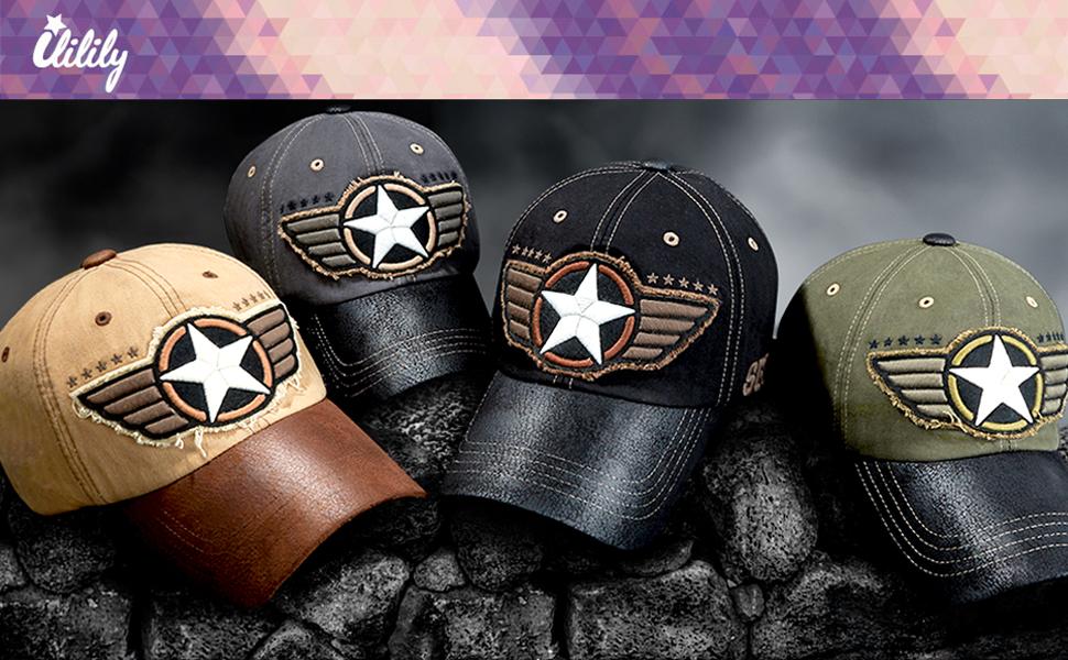 Howels Camouflage Velboa Baseball Cap Velcro Adjustable Military Trucker Hat
