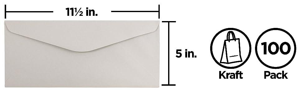 grey kraft #14 envelope