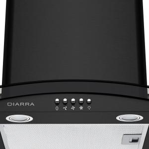 CIARRA CBC6B506 Campana Extractora Cocina Cristal 60 cm - 550 m³/h 100W 56dB,3 Velocidades de Extracción, Evacuación al Exterior y Recirculación Interna por Filtro de Carbón CBCF002 - Negro: Amazon.es: Grandes electrodomésticos