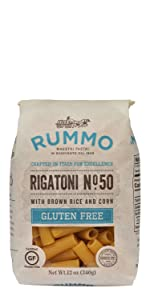 Rummo Pasta Gluten Free Rigatoni No. 50
