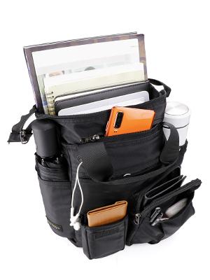 black crossbody travel bag