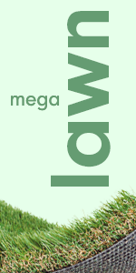 MegaGrass artificial grass sod is a thick synthetic turf rug for lawn and landscape decoration.
