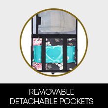 detachable removable pocket store diaper wet wipes baby essentials stuffs lightweight practical kit