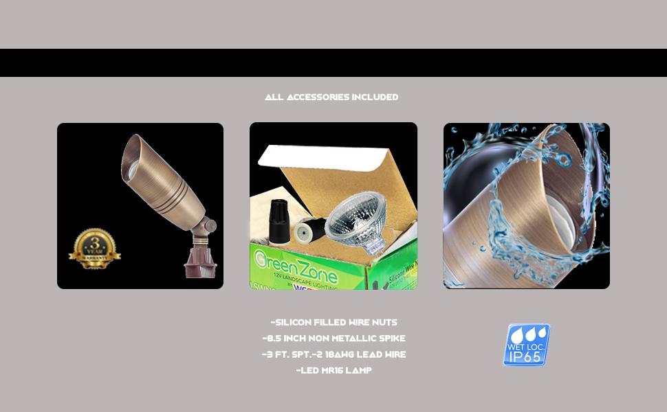 12V LED Accent Spike Light with 35 Degree Beam Spread MDL Ltg LED 12 Watt