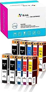 1-10 per Pack Reman H564XL BK//PBK//C//Y//M Ink Cartridge for HP Printer Lot