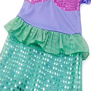 Little Girls Dress Mermaid Outfits Costume Princess Birthday Party Cosplay Clothes Sequins HG023-112