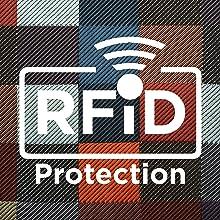 Portafoglio multifunzionale anti RFID. Portafoglio sottile porta carte e soldi.