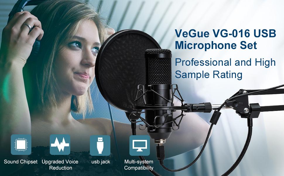 VeGue VG-016 USB Microphone Set