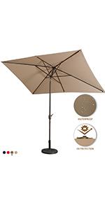 led rectangular patio umbrella
