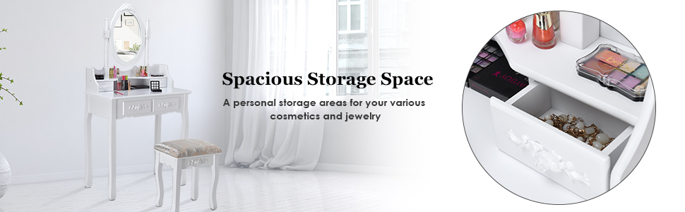 Spacious Storage Space