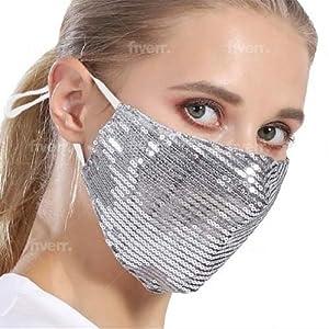 Sequin  for women Fancy face mask sparkle face mask For women face mask