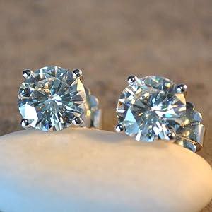 Moissanite Stud Diamond Earrings