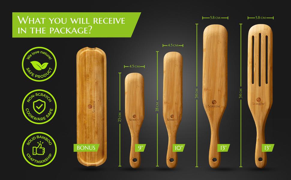 Wooden spurtle set