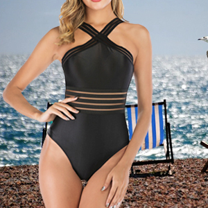 See Through Mesh One Piece Swimsuit