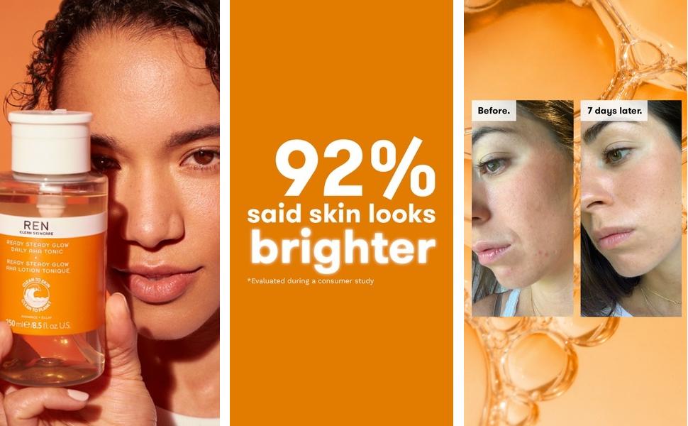 glow tonic face bright illuminate shine pores