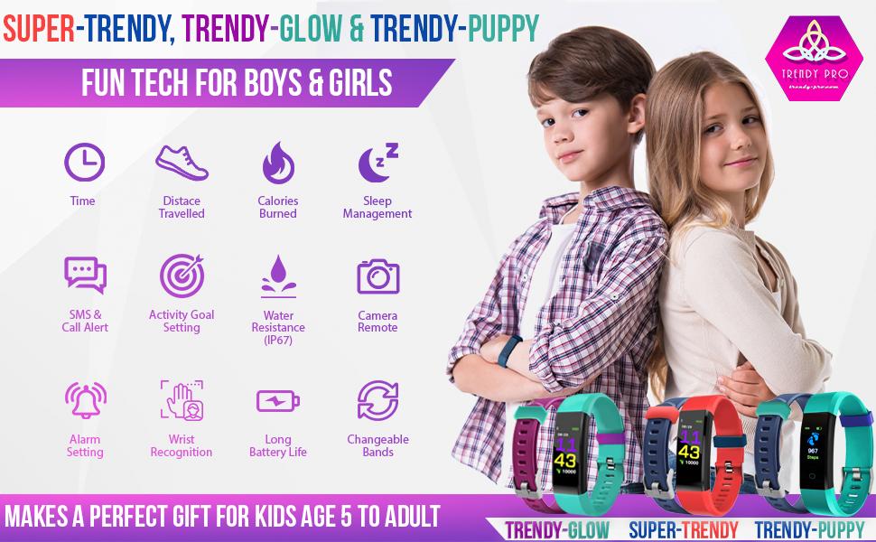 Fitness Tracker Watch Kids Girls Boys Teens Activity Tracker Pedometer Heart Rate Sleep Monitor