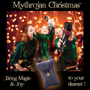 Christmas gift surprise mythrojan joy suede game of thrones Warcraft SCA leather bag medieval pouch
