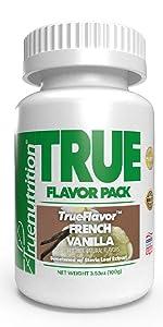 true nutrition trueflavor french vanilla custom protein powder