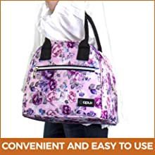 Insulated lunch bag tote for women medium large capacity