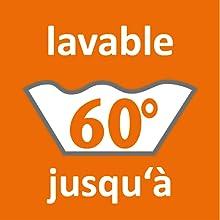 lavable jusqu´a 60 degré celsius température aussi pour petites machines à laver 90 95 40