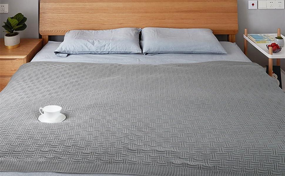 100% Baumwolle Luxus Stilvolle Strickdecke