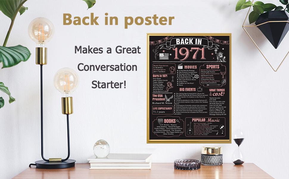 back in 1971 poster
