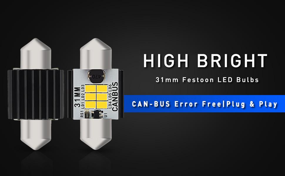 31mm festoon led