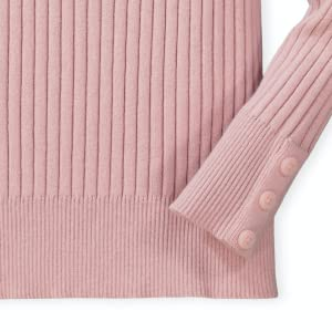hope Henry organic cotton little young baby kids fashion style girls sweater top shirt rib button