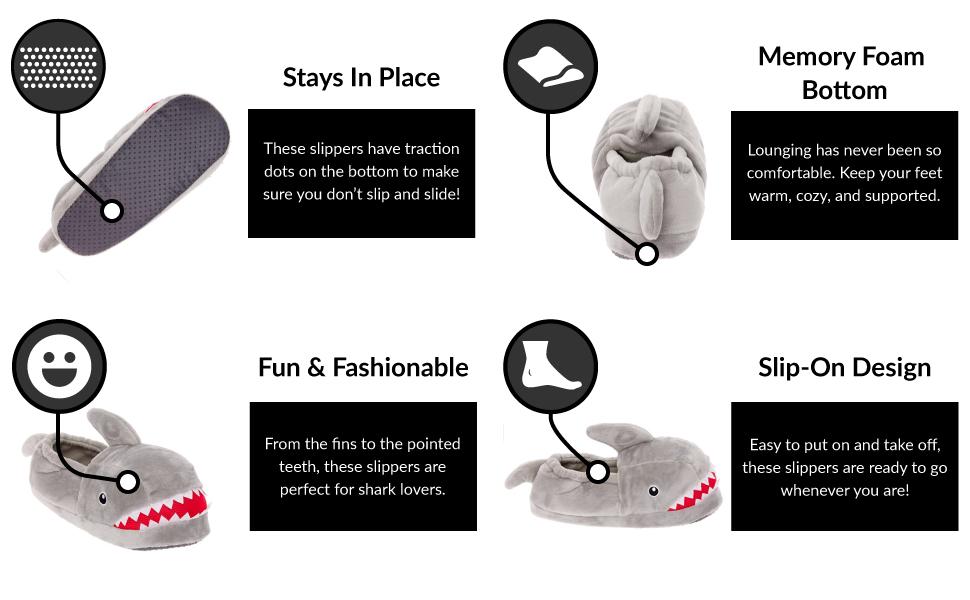 slipper features