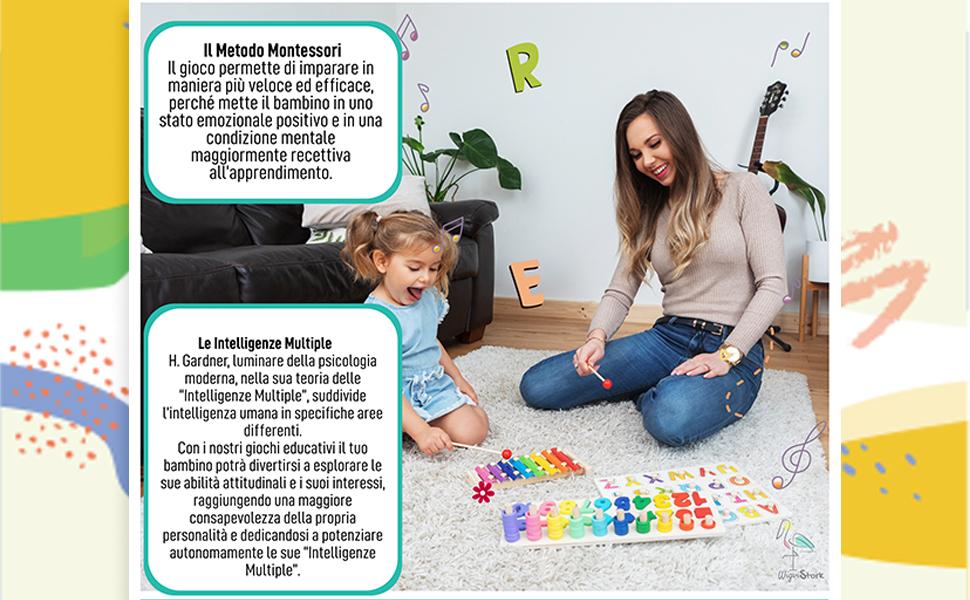Giochi Montessori Educativi in Legno