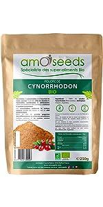 Poudre de cynorrhodon amOseeds specialiste des super aliments bio