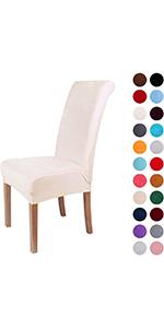 Beige Velvet Dining Chair Covers