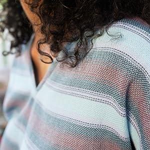 KAVU Sundale Sleeveless Striped Pullover - Sleeveless V Neck Shirt