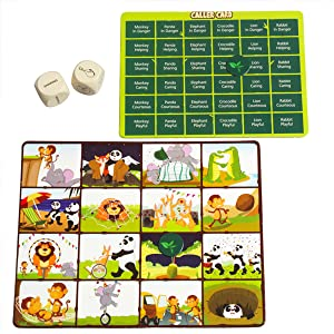 A day in the Jungle bingo game age 5 and up for boys and girls