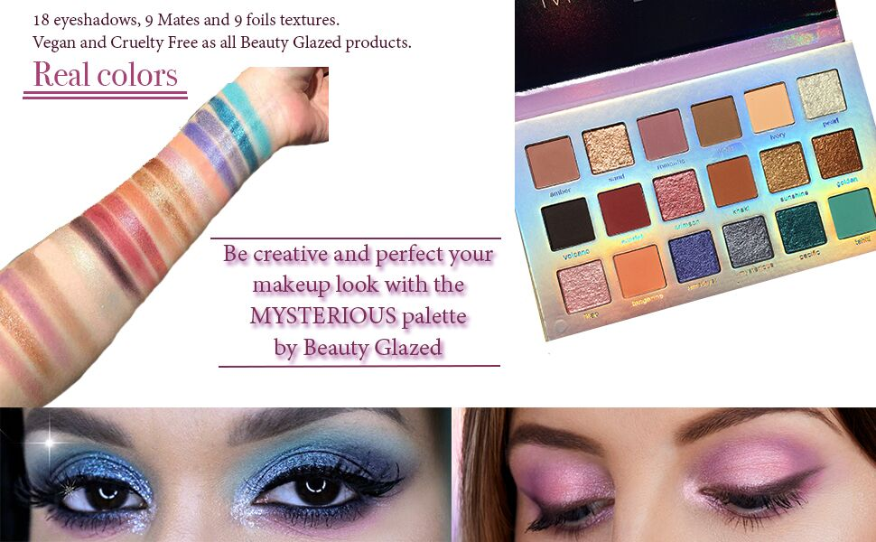 Beauty Glazed Matte Pearlescent Glitter Eye Shadow 18 Colors Pigment Eye Shadow